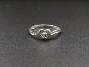 Size 6.5 10K Gold Genuine Diamond Heart Band Ring Vintage Estate Wedding Engagement Anniversary Gift Idea Beautiful Elegant Unique for Sale in Everett, WA