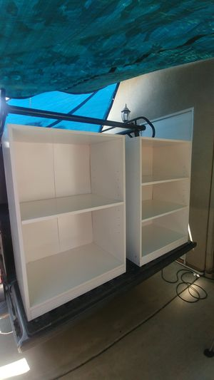 Book Shelves (White x2) for Sale in Redlands, CA