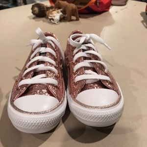 Girls Rose Gold size 11 Converse Shoes for Sale in Buena Park, CA