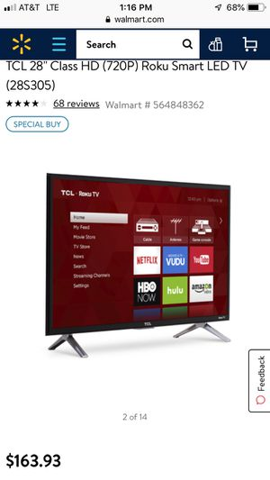"29"" tv TCL w/ roku for Sale in TEMPLE TERR, FL"