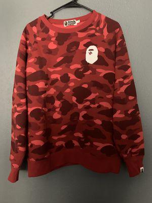 Bape longsleeve sweatshirt (red) for Sale in Houston, TX