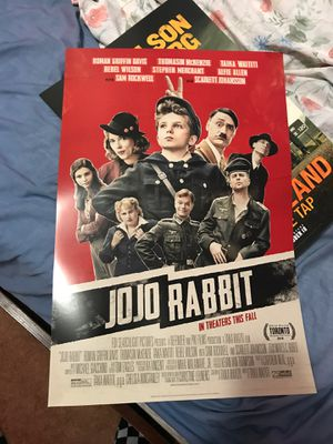 Jojo rabbit poster 13.5x20 inches for Sale in Los Angeles, CA