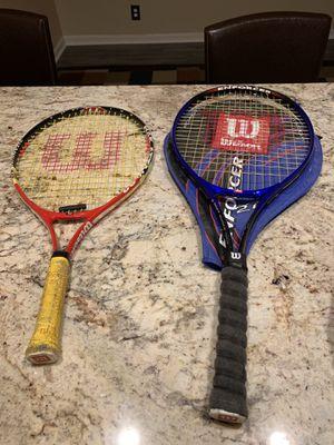 Two Wilson tennis rackets for Sale in Nashville, TN