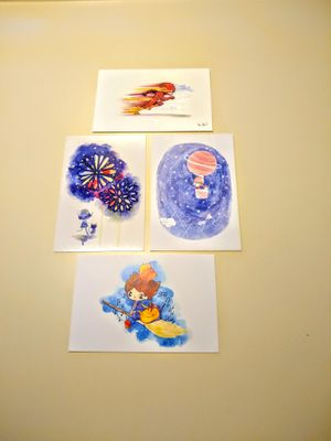 Assorted Watercolor Prints for Sale in Huntington Beach, CA