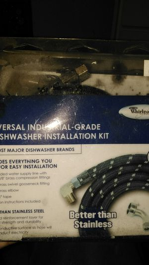Whirlpool universal dishwasher industrial grade installation kit for Sale in Cleveland, OH
