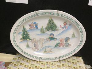 Precious moment Winter Scene Platter for Sale in Hialeah, FL