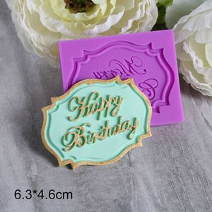Beautiful Happy Birthday Sugarcraft Silicone Cake Cookie Mold Fondant Decorating for Sale in Portland, OR