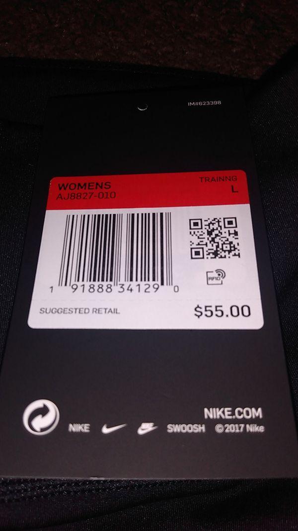 Women's leggings brand new made by Nike $25. Men's Nike pro flex standard fit $35