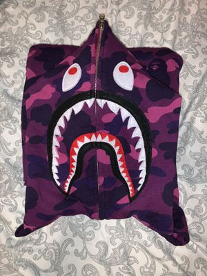 Purple Camo Bape Hoodie (SIZE LARGE) for Sale in Everett, WA
