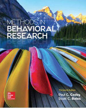 [Pdf/eBook] Methods in Behavioral Research - $10 for Sale in Los Angeles, CA