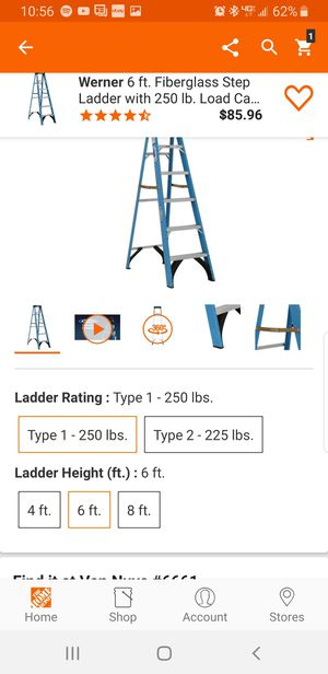 Brand New Werner 6' ladder 250lb for Sale in Los Angeles, CA