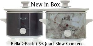New Bella 2-Pack 1.5-Quart Slow Cookers for Sale in East Riverdale, MD