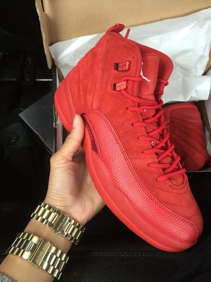 Red suede Jordan 12s size 6.5y for Sale in St. Louis, MO