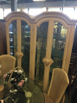 Dining room set with glass table and chairs for Sale in Grosse Pointe Park, MI