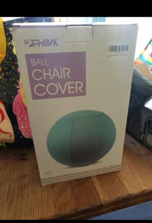 Exercise ball with acb chair cover for Sale in Medina, OH