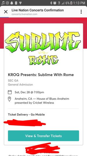 SUBLIME @ HOUSE OF BLUES for Sale in Huntington Park, CA