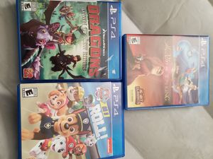 Kids ps4 bundle. $30 for all or $12 each for Sale in Fairfax, VA