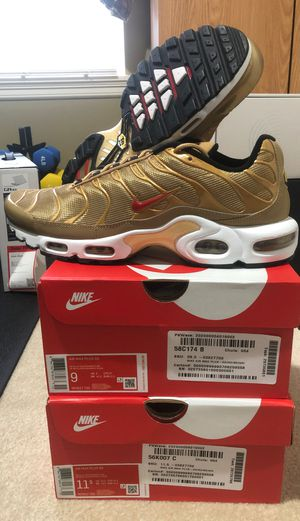 Air max plus qs gold for Sale in Bothell, WA