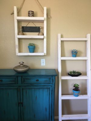 Ladder shelf & blanket/towel ladder for Sale in Vista, CA