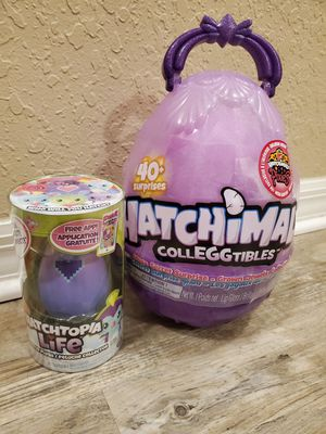 Hatchimal Colleggtible Mega Egg & Hatchtopia Life for Sale in Palm Harbor, FL