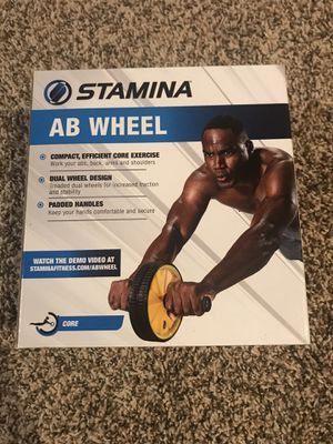 Stamina Ab Wheel Roller Exercise Crunch Workout Fitness Training Core FAST SHIP for Sale in Buckhannon, WV