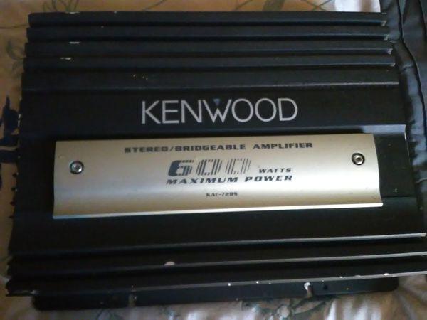 Kenwood 600 Watt amp and two JL audio pro wedge speaker boxes