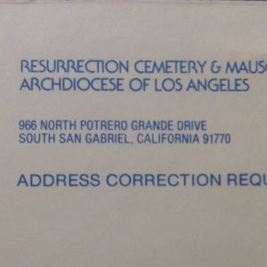 Double Space Cementery San Gabriel Cal. for Sale in El Monte, CA
