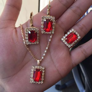 18k gold plated jewelry set for Sale in Silver Spring, MD
