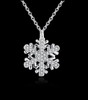 Rose Gold Platinum Plated Necklace Women's Pendant Snow Flake Zirconia B129 for Sale in Arlington, VA