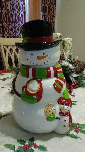 Snowman cookie jar for Sale in Aspen Hill, MD