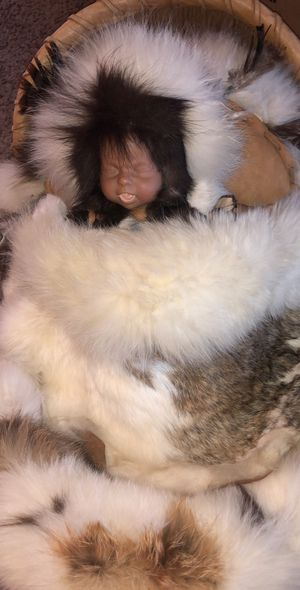 Native American Baby Doll-Real Rabbit Fur for Sale in Auburn, WA