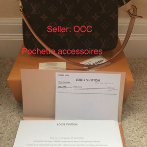 BRAND NEW LV LOUIS VUITTON POCHETTE ACCESSOIRES (NOT MINI VERSION) canvas boast monogram MADE IN FRANCE 🇫🇷 for Sale in Des Moines, WA