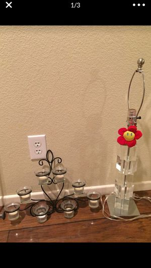 Candle holder and lamp for Sale in Las Vegas, NV