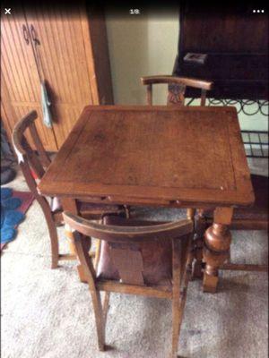 Antique Oak, draw-leaf table & chairs....extends**read description** for Sale in North Lauderdale, FL