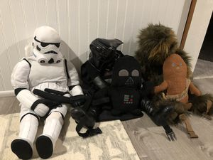 Star Wars back packs and stuffed animals for Sale in Seattle, WA