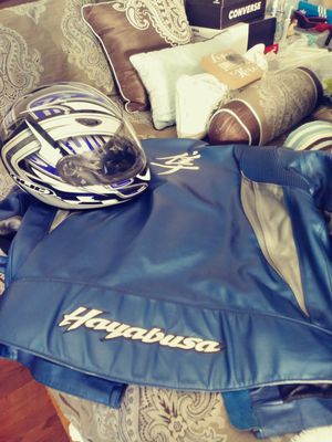 Motorcycle jacket and helmet for 175/o.b.o for Sale in Etna, OH