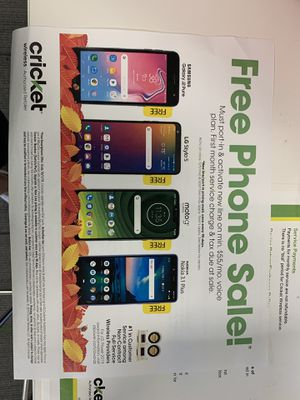 Get a free phone today when you switch to cricket today! for Sale in North Richland Hills, TX