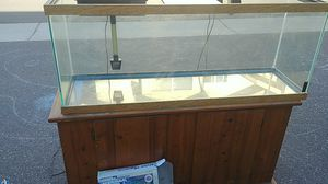50 gallon aquarium w/ filter and stand for Sale in Mountain View, CA