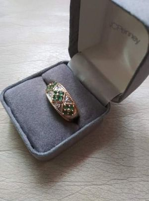 Emeralds and Diamond ring 14 k gold for Sale in Methuen, MA