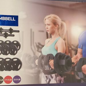 Dumb Bells Adjustable (weight) Brand New TOTAL Weight 45 Pounds $120 for Sale in Los Angeles, CA