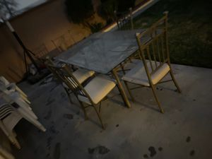Free table and 5 chairs been outside need cleaning for Sale in Downey, CA