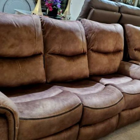 Reclining Brown Sofa