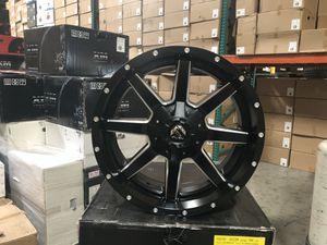 New 20x9 Fuel off-road wheels Maverick satin black milled rims Fit Silverado for Sale in Corona, CA