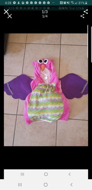 Girls 3t 4t owl halloween costume for Sale in Victorville, CA