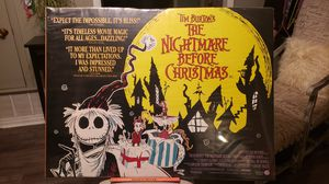 "RARE 1993 Nightmare Before Christmas original British Quat poster. 40"" x 30"" and goes for $370 for Sale in San Antonio, TX"