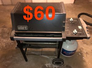 Bbq grill with propane tank weber for Sale in Torrance, CA