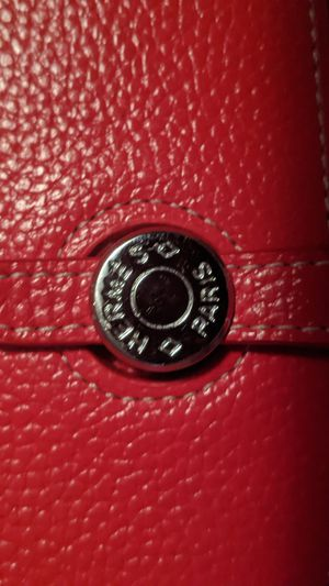 Designer Red Leather Wallet from Paris for Sale in Westminster, CO