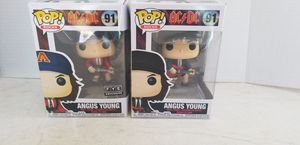 Funko Pop Set of 2 AC/DC 91 Angus Young Standard, 1 FYE Exclusive & 1 Black for Sale in El Paso, TX