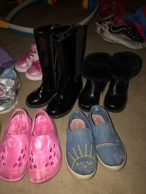 Toddler girl shoe lot for Sale in Grove City, OH