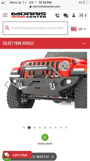 Rough county JK unlimited winch and bumper for Jeep Wrangler unlimited for Sale in Los Angeles, CA